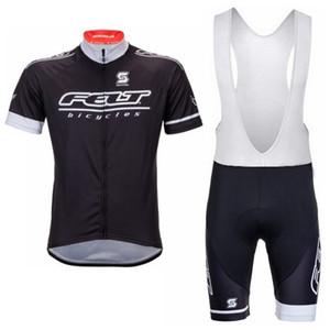 2018 Verão Pro FELT Ciclismo Jersey MTB Bicicleta Conjunto de Roupas de Manga Curta Homens Quick-Seco Bicicleta Desgaste Conjunto Bib Shorts Preto 81801Y