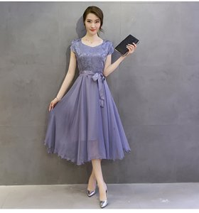 Женская элегантный Slim Fit плиссированные шелковые с коротким рукавом платье-sofo