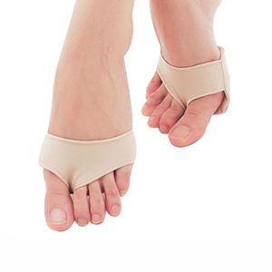100 Paires SEBS + Lycra Tissu Gel Métatarsal Balle De Pieds Semelles Coussins Coussins Avant Douleur Support De Pied Avant Pied Pad Avant Pad Orthopédique
