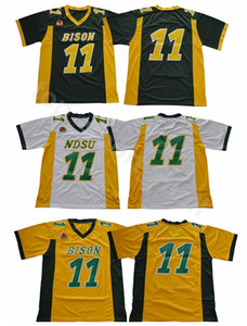 NDSU BISON 11 CARSON FUEZ FUTBOTS Jerseys North Dakota State College Wentz Jersey Stitched University Team Green Amarillo Blanco