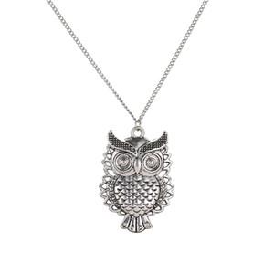 Weinlese-nette Eule aushöhlen hängende Halsketten-Art- und Weiselange Strickjacke-Kette Colar Collier-Halsketten-Frauen-Charme-Schmucksache-Großverkauf