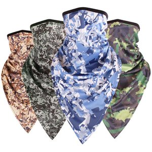14 Colors Half Face Mask Tactics camouflage triangular Head towel Cover Mask Sunscreen Outdoors Neck Sleeve Magic Scarves T1C108