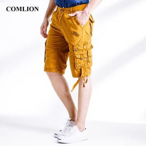 COMLION Nouvelle Arrivée Style Été Cargo Shorts Hommes Multi-Pocket Camouflage Hommes Casual Lâche Genou-Longueur Hommes Shorts De Mode F5