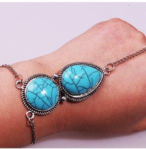 Europa und den Vereinigten Staaten böhmischen Sand retro ethnischen türkis Kette Finger Armband Schmuck Großhandel freies Verschiffen