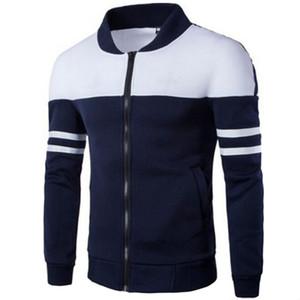 HENGSONG 2018 Printemps Automne Hommes Golf Vestes Manteau Rayé Patchwork Slim Fit Veste Pour Hommes Homme Homme Veste Sportwear