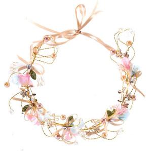 Copricapo da sposa per spose Scintillante cerimonia nuziale Pageant Diadema Flower Girl Hairband Crystal Sweet 16 Prom Pageant Hair Jewelry Headpiece