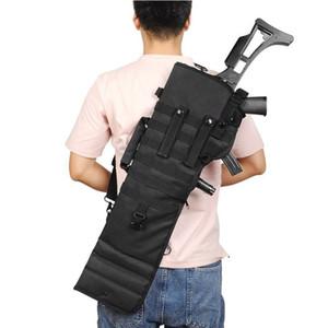 """29 """"Hızlı savaş taşınabilir Shotgun sırt çantası Taktik Kın sırt çantası Tüfek airsoft av silah tabancası AR-15 M4 AK için"""