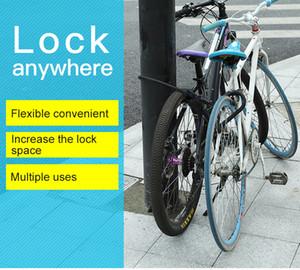 Bisiklet U-lock motosiklet hırsız kilidi dağ bisikleti çelik kablo çubuk kilit elektrikli araba kilidi