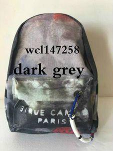 Borse da viaggio Graffiti Color Retro Shoulder Backpack Catwalk Women Casual Canvas Bag Classic Doodle Limited Edition Bags 64