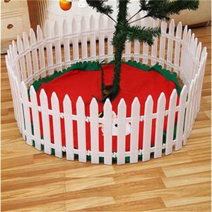 С Рождеством Христовым орнамент дерево корпус Сплит совместных пластиковые белый забор бамбук забор сцена расположение фестиваль декор празднование 1 05ar bb