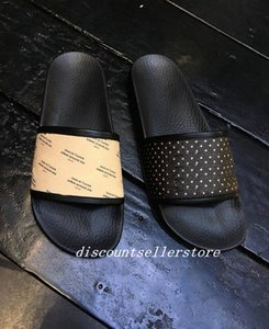 mens and womens Leather-trimmed Logo-print or stamp print slide sandals slippers causal beach flats flip flops