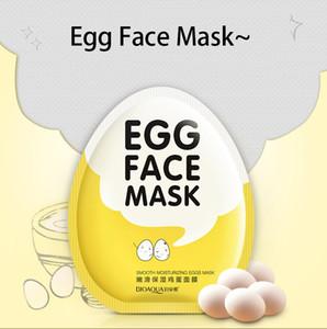 BIOAQUA яйцо маски для лица Масло управления скрасить завернутый Маска Нежный увлажняющий маска для лица Уход за кожей увлажняющая маска