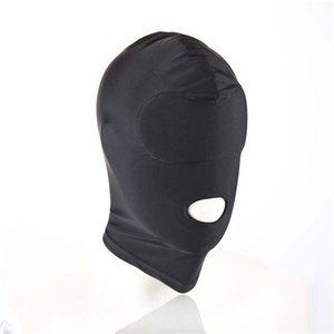 Hood s924 sex spielzeug maske schwarz fetisch auge bdsm mund frauen sklave urease für restraining unisex erotisches paar produkt erwachsener spiel bondage conon