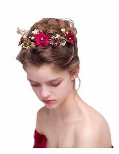 اليدوية زهرة الجانب مشط الشعر الزفاف خوذة الزفاف اكسسوارات الزفاف زهرة الشعر كليب اللؤلؤ الزفاف خوذة