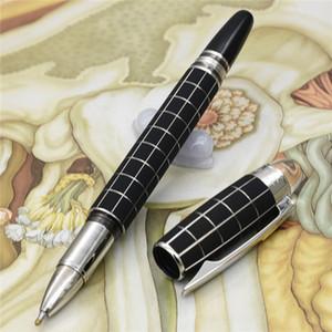 Уникальный дизайн Роскошный черный проверка дизайнера ручки MB шариковая ручка с хрустальными топ канцтоваров школьных принадлежностей пишущих бренд пера подарок