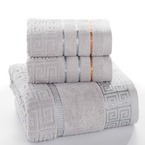 Plaid aus 100% Baumwolle Gesicht Hand Badetuch Set für Erwachsene Badezimmer 650g 3pcs / set Handtuch-Sets Freeshipping 15