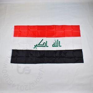 Iraq bandiera nazionale di trasporto libero 3x5 FT / 90 * 150cm Hanging bandiera Iraq nazionale della decorazione della casa flag banner