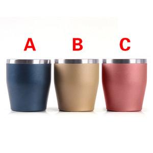 10oz Stainlesss Stahl Eierbecher Doppelwand Vakuum isoliert Tumbler Beer Kaffeetassen Tee Tasse Stemless Weingläser für Office Bankett 300ml