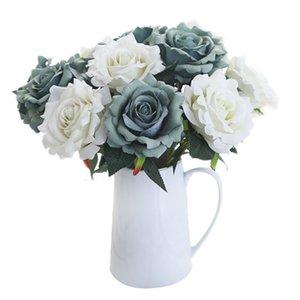 2018 di alta qualità Produttori all'ingrosso flannelette ruyi rose simulazione fiori matrimonio lasciare decorazione della casa fiori di seta