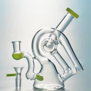 4 mm d'épaisseur Hookah Sidecar verre pipe à eau unique Bongs Heady Dab Rigs recycleur Oil Rig Beaker verre Bong avec bol XL260