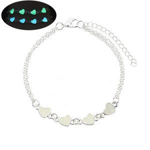 Halloween Party Blue Green Braccialetto cuore incandescente Glow in the Dark Fata Fluorite Magical braccialetto braccialetto gioielli