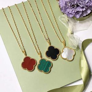 2020 Art und Weise Charmeschmucksachen 18k Gold überzogene natürliche Shell-Achat Blumen-Anhänger Halskette für Frauen das beste Geschenk