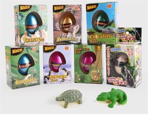 아이들 성장 귀여운 공룡 동물의 계란 매직 계란 장난감 물 확장 해칭 동물의 달걀을 추가 어린이 교육 장난감 선물 DHL 무료