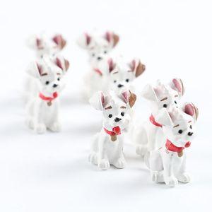 Lovely Spotted Dog Ornamento Animales de dibujos animados Miniaturas Home Decoraciones de mesa Diy Novedad Regalo Juguete Resina Natural 0 6mj ff