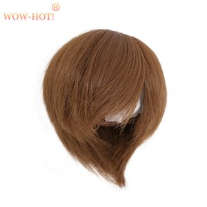 1 3 1 4 1 6 BJD Doll Wig Short Hair,Fashion Brown and Gold Color Quality Simple Cute Dolls Accessories Wigs for BJD Dolls Toy