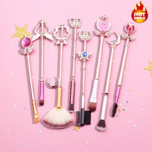 Sailor Moon Maquiagem Pincel Kit Cosméticos Kit Pincel Maquiagem Maquiagem Pincéis Ferramentas Eye Liner Shader Sobrancelha Cabelo Natural-Sintético
