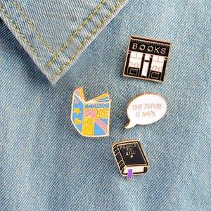 Cartoon Dark Evil Libro Lettera Libreria Spilla Dello Smalto In Metallo Pin Zaini Giacca T-Shirt Collare Distintivo badge Distintivo Gioielli Regalo