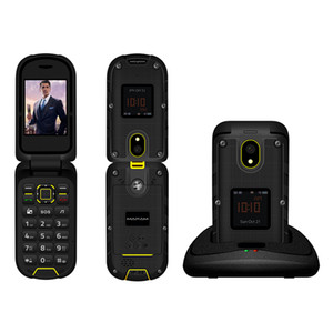 Ioutdoor F2 Üç Önleme Özelliği İnce Kapak Sağlam Su Geçirmez Çift Ekran Yerleştirme İstasyonu SOS Torch LED Kıdemli Cep Telefonu