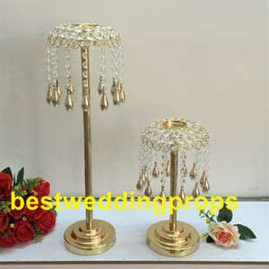 hot tall decorative crystal gold table centerpieces for wedding best00180