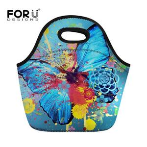 FORUDESIGNS 2018 Nova Borboleta Impresso Mulheres Cooler Lunch Bags Portátil Lunch Box Térmica Isolada Piquenique Mulher Bolsas