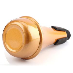 Foraineam Trumpet Straight Mute, Aluminum Alloy Golden Color