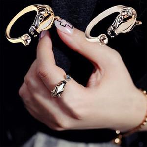 2018 Nwe Ankunft Frauen Mode Zebra Pferdekopf Einstellbare Zeigefingeröffnung Ring Charakteristischen Schmuck Drop Shipping