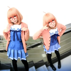 Beyond the Boundary Cosplay kyoukai no kanata Mirai Kuriyama Ayi Ai Shindo Cosplay Costume pink Sweater