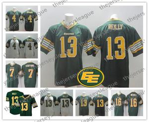 CFL Edmonton Eskimos Custom Любое имя Любое число Лучшее качество Сшитый зеленый белый Персонализированные # 13 майка Рейли Футбольная форма S-4XL