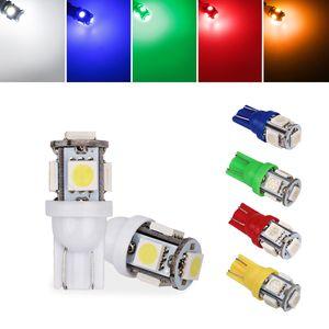100Pcs-Pack Car Auto T10 Cuneo 5-SMD 5050 LED Side Side Indicatore di parcheggio Dome Targa Light a lampadine W5W 2825 158 2825 12V