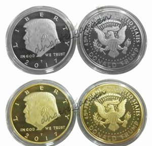 Argent Métal Or Craft Monnaie américaine Badge 45ème Président Donald Trump Sculpture non-monnaie Pièce commémorative EAGLE Coin Collection