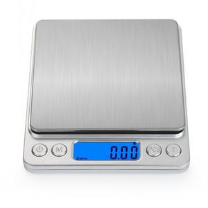 2018 New Household Digital balanças portáteis eletrônico bolso LCD Precision Jóias Balança Cozinha Balança acessórios Ferramentas de cozinha