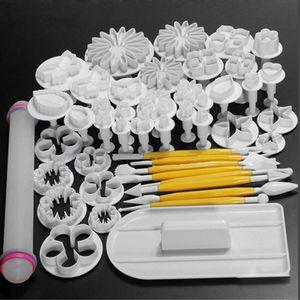 46 шт. / компл. DIY 3D плунжер помадной цветок торт плесень цветок украшения инструменты выпечки комплект плесень для печенья Формы для выпечки