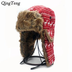 Mens Ear Flaps Winter Bomber Hat Ushanka Russian Hat Warm solid color Man Cap Cozy Bonnet Caps For Men C18110801