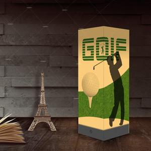 Papier, Schlagschatten Night USB Leuchtet Man spielt Golf Home Dekoration Lampen Schreibtisch-Tabellen-Licht als Geschenk für Kinder Großhandelsdropshipping