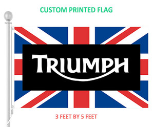 3x5 feet Triumph Grommets가있는 영국 영국 국기 맞춤형 디지털 인쇄 깃발 배너