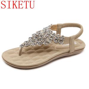 SIKETU كبيرة الحجم النساء بلينغ الراين أحذية الصيف نمط الصنادل أحذية الشاطئ الإثارة 588-1