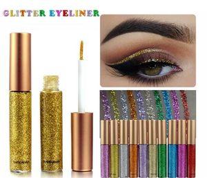 Neue HANDAIYAN 10 Farben Liquid Glitter Eyeliner Bleistifte Langlebige Wasserdichte Augen Make-up Eyeliner Einfach zu Tragen Eye Liner