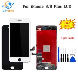 Top Tianma calidad para el iPhone 8 8 Plus pantalla LCD de pantalla táctil digitalizador de Asamblea Piezas de repuesto 100% Prueba para el iphone 8 8Plus paneles
