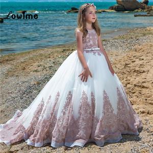 Beatuiful Formal Pageant Dresses For Girls 2018 Custom Made Flower Girl Dresses For Weddings 2018 Vestido De Daminha Girls Communion Dresses