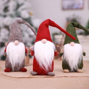 Umweltfreundlich Weihnachtsdeko Wald Old Man Langer Bart Faceless Puppe Plüschtier Hauptdekorationen Halloween-Kind-Geschenk 3 Farbe